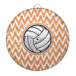 Voleibol; Chevron anaranjado y blanco Tabla Dardos
