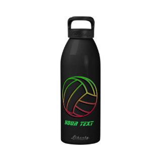Voleibol colorido botellas de agua reutilizables
