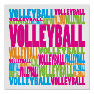 Voleibol colorido poster