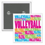 Voleibol colorido pins