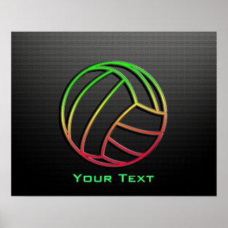 Voleibol colorido póster