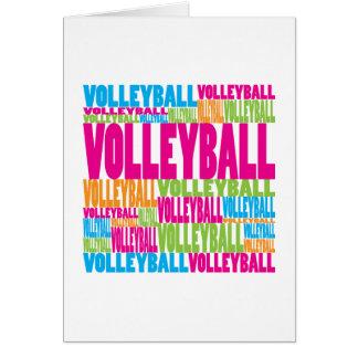 Voleibol colorido tarjetas
