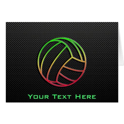 Voleibol colorido tarjeta de felicitación