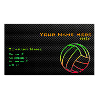 Voleibol colorido tarjetas de visita