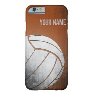 Voleibol con la sombra del naranja del efecto del funda barely there iPhone 6