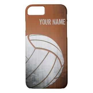 Voleibol con la sombra del naranja del efecto del funda iPhone 7