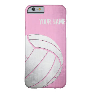 Voleibol con la sombra del rosa del efecto del funda de iPhone 6 barely there