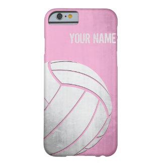 Voleibol con la sombra del rosa del efecto del funda barely there iPhone 6
