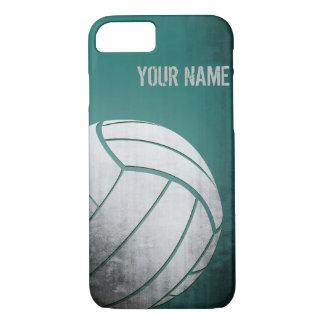 Voleibol con la sombra del verde del efecto del funda iPhone 7