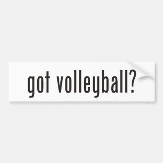 ¿voleibol conseguido? etiqueta de parachoque