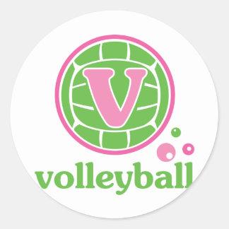 Voleibol de Allaire Pegatina Redonda