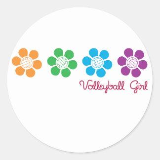 Voleibol de Bayflower Pegatina Redonda