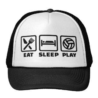 Voleibol de Eat Sleep Play Gorras