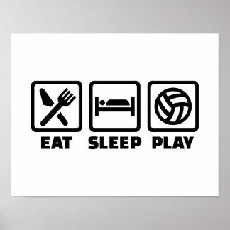 Voleibol de Eat Sleep Play Poster
