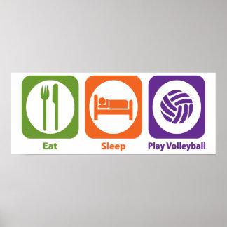 Voleibol de Eat Sleep Play Póster