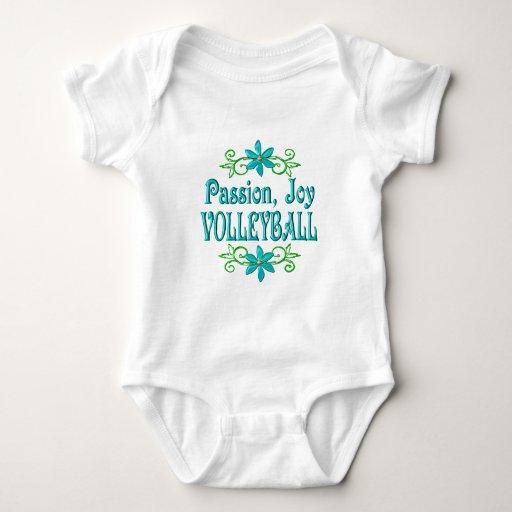 Voleibol de la alegría de la pasión playera