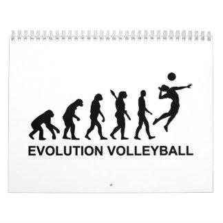 Voleibol de la evolución calendarios