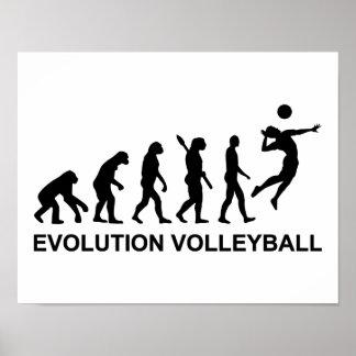 Voleibol de la evolución póster