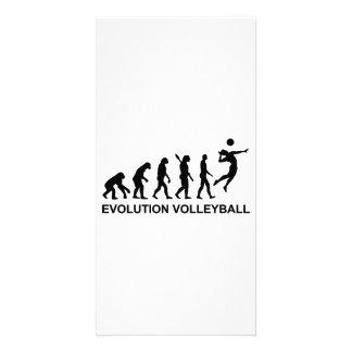 Voleibol de la evolución tarjetas fotograficas personalizadas