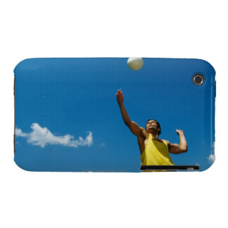 Voleibol de la porción del hombre iPhone 3 funda