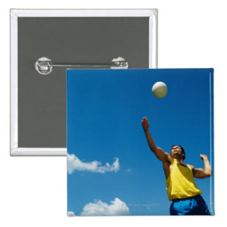 Voleibol de la porción del hombre pin cuadrado
