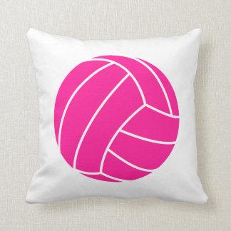 Voleibol de las rosas fuertes almohada