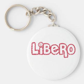 Voleibol de Libero Llavero Redondo Tipo Pin