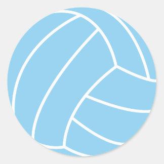 Voleibol de los azules cielos pegatina redonda