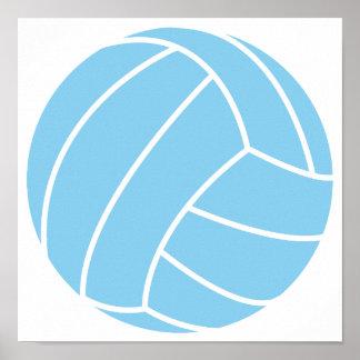Voleibol de los azules cielos póster