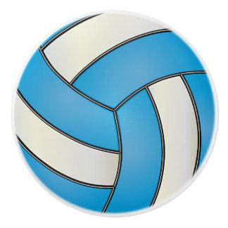 Voleibol de los azules cielos y del blanco pomo de cerámica