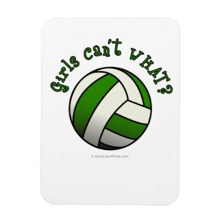 Voleibol de los chicas en verde imanes