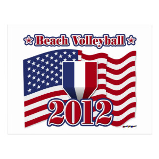 Voleibol de playa 2012 tarjeta postal