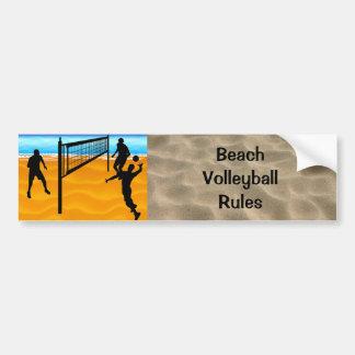 Voleibol de playa pegatina de parachoque