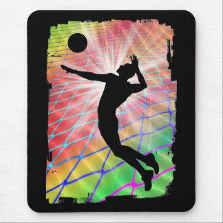 Voleibol de playa colorido de la ráfaga mousepads