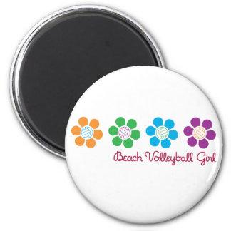 Voleibol de playa de Bayflower Imanes De Nevera