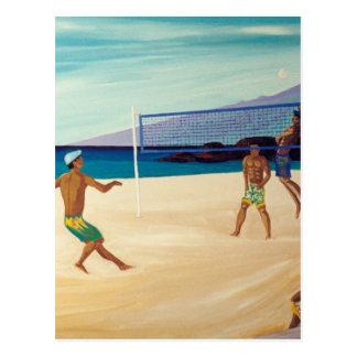 Voleibol de playa de Kaanapali Tarjeta Postal