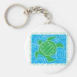Voleibol de playa de la tortuga llavero