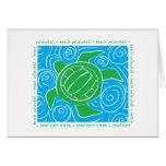 Voleibol de playa de la tortuga tarjeton