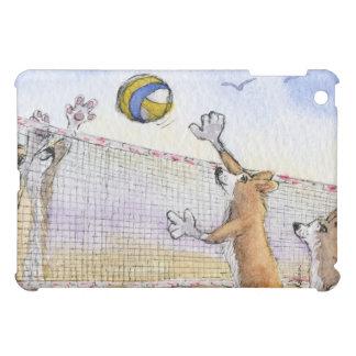 Voleibol de playa del perro del Corgi