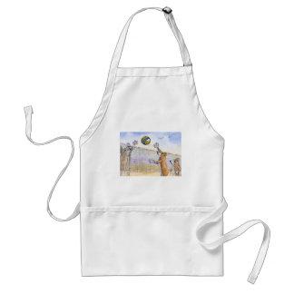 Voleibol de playa del perro del Corgi Delantal