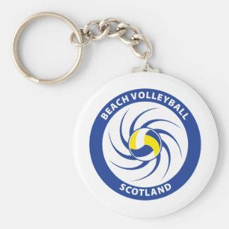 Voleibol de playa Escocia Llavero Redondo Tipo Pin