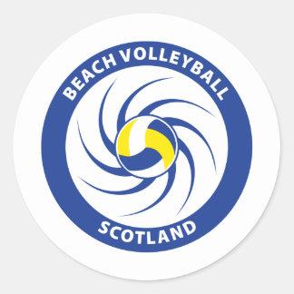 Voleibol de playa Escocia Pegatina Redonda