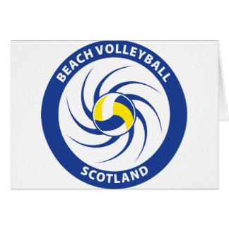 Voleibol de playa Escocia Tarjeta De Felicitación