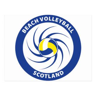 Voleibol de playa Escocia Tarjeta Postal
