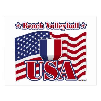 Voleibol de playa los E.E.U.U. Postales