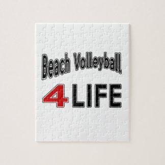 Voleibol de playa para la vida rompecabezas con fotos