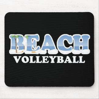 Voleibol de playa alfombrilla de ratones
