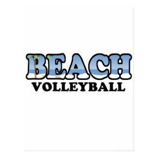 Voleibol de playa tarjeta postal