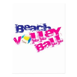 Voleibol de playa tarjetas postales