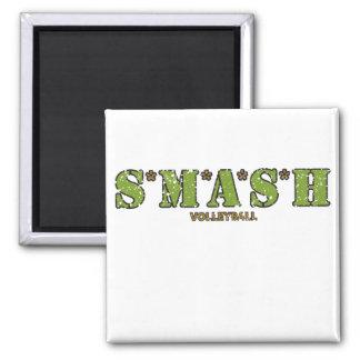 Voleibol de S M A S H Imanes Para Frigoríficos